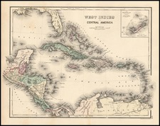 Caribbean Map By O.W. Gray