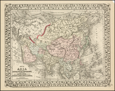 Asia and Asia Map By Samuel Augustus Mitchell Jr.