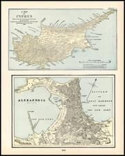 Europe, Mediterranean, Balearic Islands and Egypt Map By George F. Cram