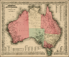 Australia & Oceania and Australia Map By Benjamin P Ward  &  Alvin Jewett Johnson