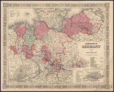 Europe, Germany and Baltic Countries Map By Benjamin P Ward  &  Alvin Jewett Johnson