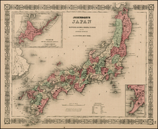 Asia and Japan Map By Alvin Jewett Johnson