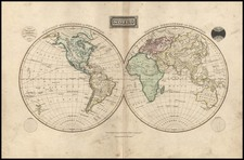 World and World Map By W. & D. Lizars