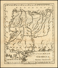 South and Southeast Map By Jedidiah Morse  &  Charles Dilly