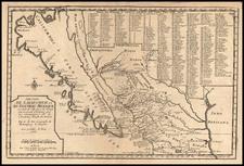 Southwest, Mexico, Baja California and California Map By Nicolas de Fer