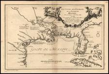 South, Southeast, Texas and Southwest Map By Nicolas de Fer