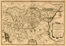 Europe, Austria, Poland, Ukraine, Hungary, Romania and Balkans Map By Nicolas de Fer
