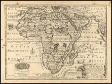 Africa and Africa Map By Nicolas de Fer