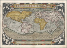 World and World Map By Abraham Ortelius