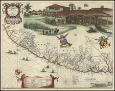 South America Map By Gaspar Barleus / Pieter Mortier