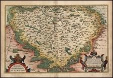 Europe and Czech Republic & Slovakia Map By Abraham Ortelius