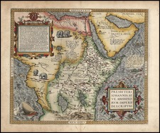 Africa, Africa, North Africa, East Africa and West Africa Map By Abraham Ortelius