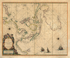 Asia, China, Japan, Southeast Asia, Australia & Oceania and Australia Map By Pieter Goos