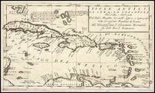 Caribbean Map By Vincenzo Maria Coronelli