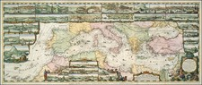 Europe, Greece, Turkey, Mediterranean and Balearic Islands Map By Romeyn De Hooghe