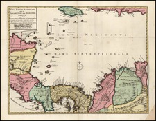 Caribbean and Central America Map By Reiner & Joshua Ottens