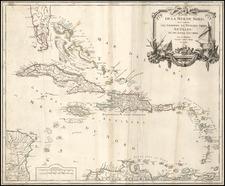 Southeast and Caribbean Map By Didier Robert de Vaugondy