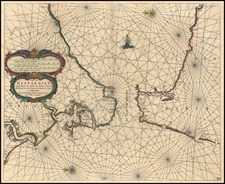 Spain, Mediterranean and North Africa Map By Caspar Van Lootsman / Anthonie (Theunis)   Jacobsz