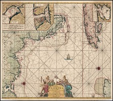 South, Southeast and Caribbean Map By Gerard Van Keulen