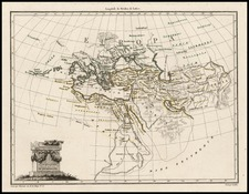 Europe, Mediterranean, Asia, Central Asia & Caucasus, Middle East and Turkey & Asia Minor Map By Conrad Malte-Brun