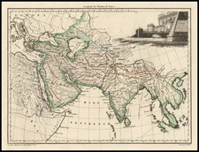 Asia, Asia, India and Southeast Asia Map By Conrad Malte-Brun