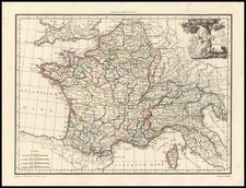 Europe, Europe and France Map By Conrad Malte-Brun