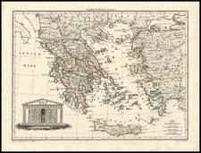 Europe and Greece Map By Conrad Malte-Brun