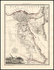 Asia, Middle East, Africa, Egypt and North Africa Map By Conrad Malte-Brun