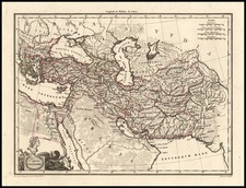 Europe, Turkey, Asia, Central Asia & Caucasus, Middle East and Turkey & Asia Minor Map By Conrad Malte-Brun