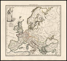 Europe and Europe Map By Conrad Malte-Brun