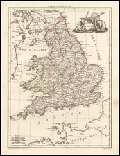 Europe and British Isles Map By Conrad Malte-Brun