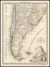 South America Map By Conrad Malte-Brun