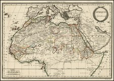 North Africa, East Africa and West Africa Map By Conrad Malte-Brun