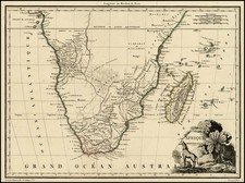 South Africa and African Islands, including Madagascar Map By Conrad Malte-Brun
