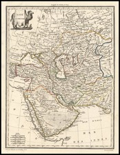 Central Asia & Caucasus, Middle East and Russia in Asia Map By Conrad Malte-Brun