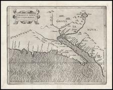 Southwest, Mexico, Baja California and California Map By Cornelis van Wytfliet
