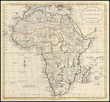 Africa and Africa Map By G. Robinson  &  Charles Dilly