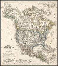 Southwest, Rocky Mountains and North America Map By Carl Ferdinand Weiland