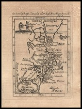 United States, New England, Mid-Atlantic and Canada Map By Alain Manesson Mallet