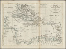 Southeast, Caribbean and Central America Map By Franz Pluth