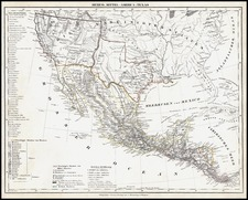 Texas, Southwest, Rocky Mountains and California Map By Carl Flemming