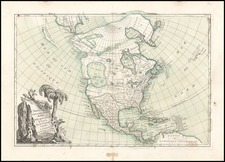 Alaska and North America Map By Jean Janvier
