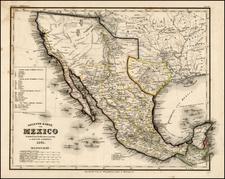 Texas, Southwest, Mexico and California Map By Joseph Meyer  &  Carl Radefeld