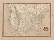 United States Map By F.A. Garnier