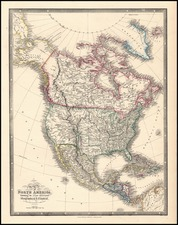 Texas and North America Map By James Wyld