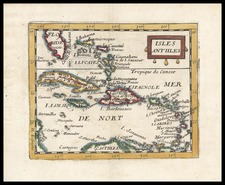 Caribbean Map By Pierre Du Val