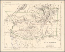 Southwest, Rocky Mountains and California Map By Henry Darwin Rogers  &  Alexander Keith Johnston