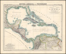 South, Southeast, Caribbean and Central America Map By Dietrich Reimer