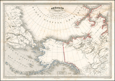 Alaska, Canada, Asia and Russia in Asia Map By Charles V. Monin