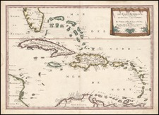 Caribbean Map By Nicolas Sanson